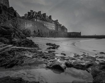 Saint Malo France The Walled City Art Photography Print Wall Decor