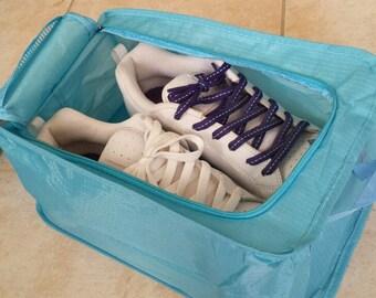 """Sky Blue Travel Shoe Bag - 8"""" X 12.5"""" X 5""""  ---- Organizer - Storage  Bag - Travel Bag"""