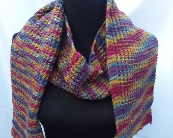 Rainbow Wool Scarf