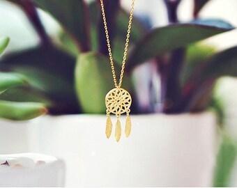 Dreamcatcher charm necklace