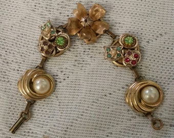 Vintage Earring Bracelet, Upcycled Bracelet, Upcycled Earring Bracelet, Vintage Bracelet, Repurposed Jewelry, Altered Jewelry, Retro Gifts