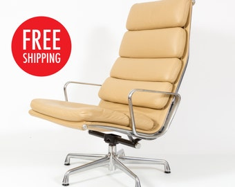 Herman Miller Eames Aluminum Group Soft Pad Lounge Chair FREE SHIPPING!