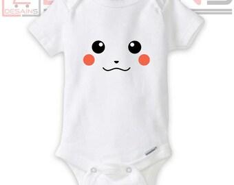 Custom Baby Pikachu One Piece or Bodysuits - Newborn Clothing -  Baby Clothes - Onesie baby
