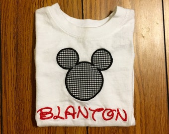 Personalized Micky Mouse Shirt