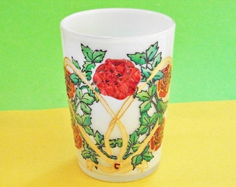 Froste Vase with Victorian Roses