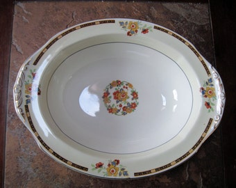 W.H.Grindley & Co.LTD Ellesmere Serving Bowl Ivory-1925 - Item #1081