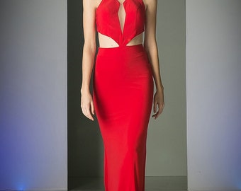 Red Becky Prom Dress