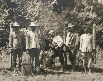 "Panama Logging Photograph Prints (4) - Antique - 1920s - 8"" x 6"" - Frank Mason Estate - Camera - Vaudeville - Rare"