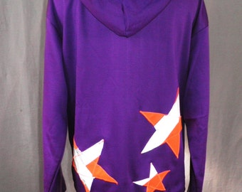Vibrant Purple Hoody with High Visibility Stars   Size M