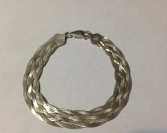 7 inch sterling silver mesh bracelet