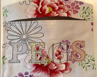 Appliqué Peg Bag