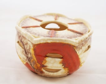 Vintage tea light 60s by Karl Hilsdorf Bingen
