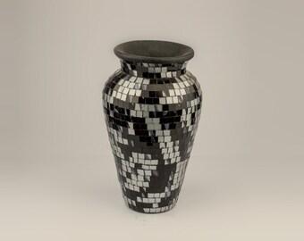 Gray terra cotta vase