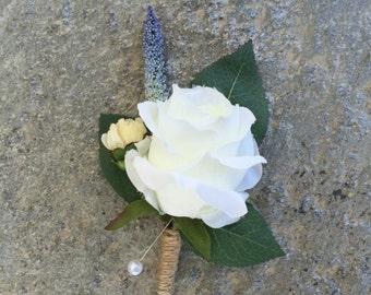 Rose boutonnières or corsages, Faux Silk Floral, Artificial Flower, Wedding Flowers