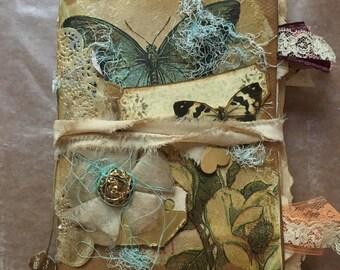 Butterfly vintage style junk journal