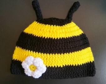 Bee hat,bee crochet hat,newborn bee hat,bumble bee hat beanie,bee baby photo props,baby bee costume,bee beanie,crochet bee,baby shower gift
