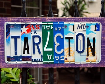TARLETON State University - custom license plate sign, tailgate / alumni / graduation gift