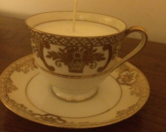 Noritake Scented Candle in Tea Cup