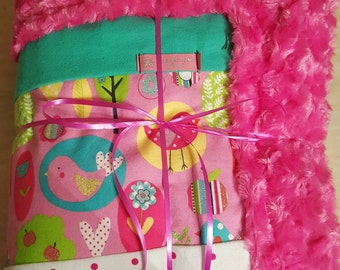 Soft, minky, cuddle/tummy time, perfect for baby shower gifts
