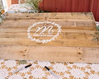 Rustic Pallet wood Wedding Guest Book