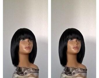 Semi Natural Hair Wig,