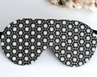 Sleeping mask polka dot mask for sleep black satin sleep mask gift for travel eye mask