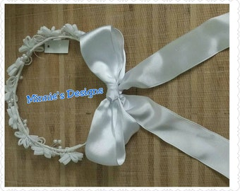 Flower girl wreath, wedding flower girl, wedding,  flower girl dress, flower girl flowers, Flower girl, 1st Communion Headband