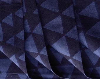 Indigo triangle print fabric