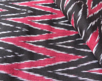 Black and Red Ikat Fabric
