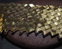 Gota Patti Woven Copper Lace, Gota Patti Border, Gota Patti Trim / Gota Patti Sari Lace / Gota Patti Embellishment