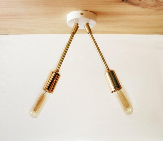 Ceiling Light Fixture Modern Brass Ceiling Semi Flush Mount