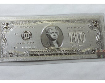 Silver Two Dollar American Banknote  .999