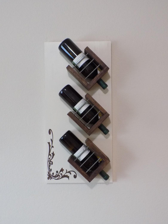 Wall Mount Wine Bottle Holder Hanging Wine By