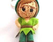 Handmade Hero Peter Pan Voodoo String Doll Keychain Ornament Accessory/Voodoo String/Doll Keychain/Keyring