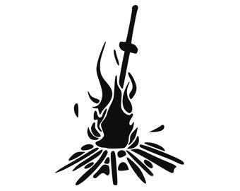 Darksouls Inspired Bonfire Vinyl Decal Gaming Sticker Laptop Macbook Art 0118
