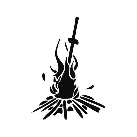 Darksouls inspired bonfire vinyl decal gaming sticker laptop