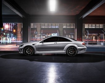 Mercedes CL63 AMG Wide Body Side View | automotive photography | automotive prints | car photography | car prints | european car | 7 sizes