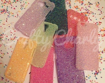 Simple Sparkle gem bling phone case made to order 12 colours!