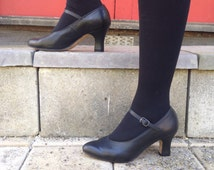 Leather heeled salsa shoes //Sansha Roberta // dance // tango