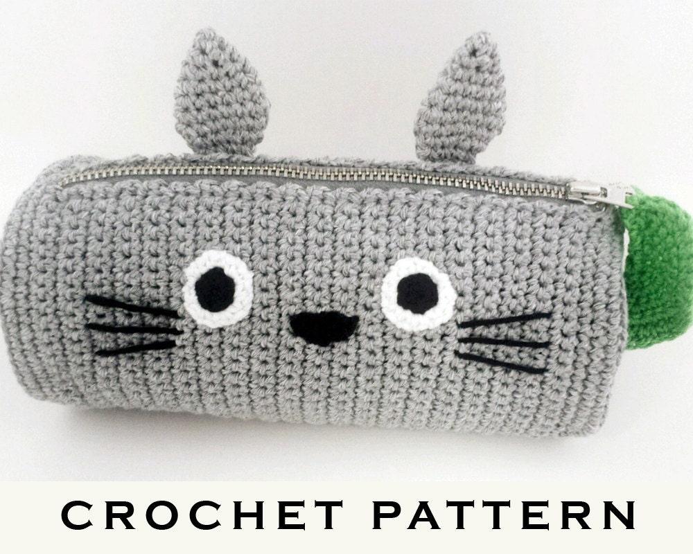 Totoro Pencil Case Crochet Pattern PDF