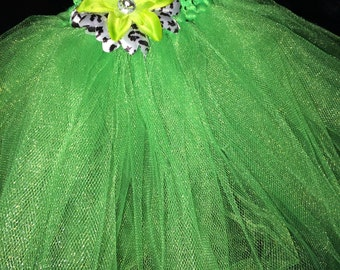 Green tutu with flower