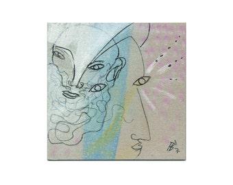 "Unique image 10/10 cm ""The Zukunftsblicker"""