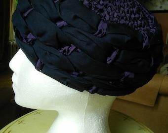 Ribbon Crochet Cloche summer hat