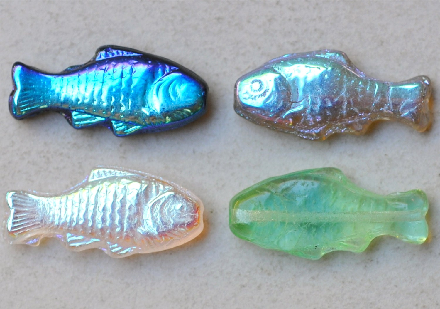 fish bead czech glass fish beads 24mm x 11mm various