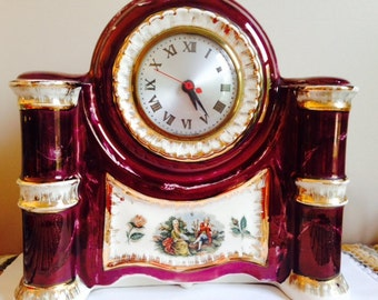 Vintage Porcelain Mantle Clock