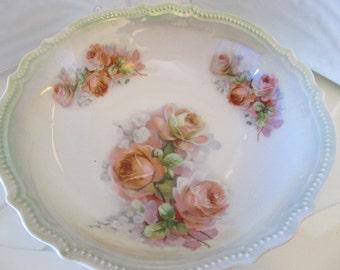 PK Silesia Rose Pattern Lustreware Bowl