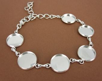 A bracelet blank with 14 mm Sockets - 17 cm