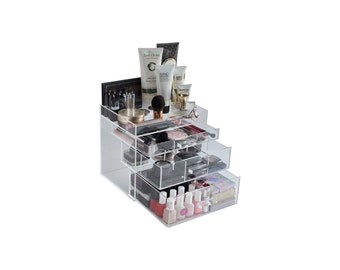 Clear Acrylic Makeup Organizer ChicBox Beauty Drawer BeautyFill Box Vanity Cosmetic Storage