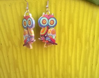 OWL in resin earrings