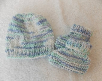 Baby Beanie and Booties Set